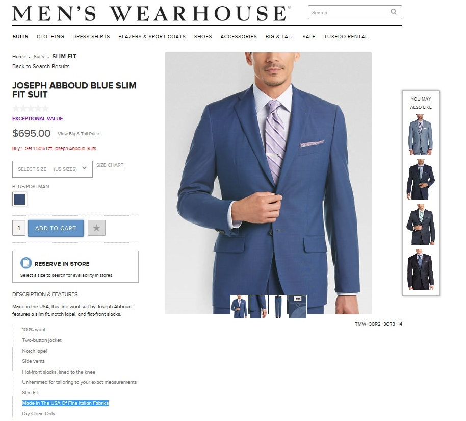 """66698635 Apparel """"Made in America"""" of Imported Fabrics – FASH455 Global ..."""